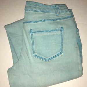Aqua Blue wash jeans